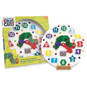 Very Hungry Caterpillar Wooden Tell the Time Clock
