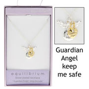 Two Tone Guardian Angel Necklace