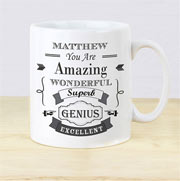Personalised Vintage Typography Mug