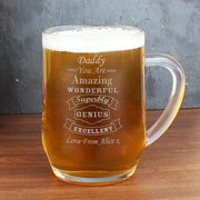 Personalised Vintage Typography Tankard Any Name