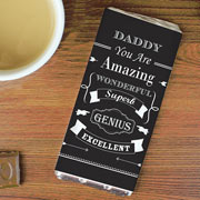 Personalised Vintage Typography Chocolate Bar  Free Delivery