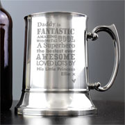 He Is Personalised Stainless Steel Tankard