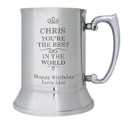 Best in the World Engraved Stainless Steel Tankard