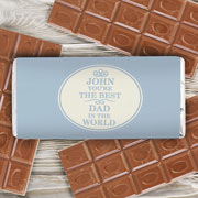 Best in the World Personalised Chocolate Bar - Free Delivery