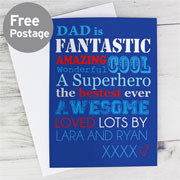 Personalised He Is Card Free Delivery