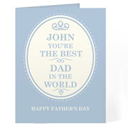 Personalised Best in the World Card Free Delivery