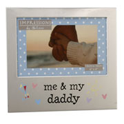 """Me & My Daddy"" Aluminium Photo Frame"