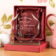 Engraved 'My Godmother' Cut Glass Award