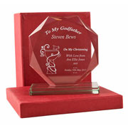 Engraved 'To My Godfather' Cut Glass Award