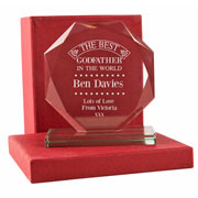 Engraved Best Godfather Cut Glass Presentation Gift