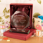 Personalised Goddaughter Cut Glass Gift