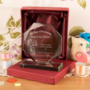 Personalised On Your Christening Cut Glass Gift