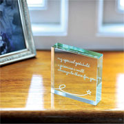 Spaceform Special Godchild Paperweight - Free Gift Bag