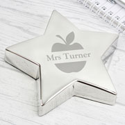 Personalised Apple Star Teacher Gift Paperweight