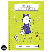 Purple Ronnie Personalised Female Teacher Notebook