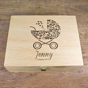 Personalised Baby Girl's Pram Memory Box