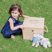 Children's Personalised Wooden Toy Box
