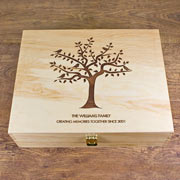 Personalised Our Family Tree Memory Box