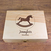 Personalised Rocking Horse Memory Box