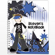 Personalised Too Cool Boy A5 Notebook - Free Delivery