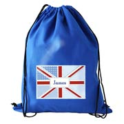Personalised Patchwork Union Jack Swim Bag PE Bag