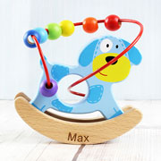 Personalised Rocking Dog Wooden Toy