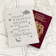 Personalised Twinkle Twinkle Cream Leather Passport Holder