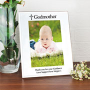 Personalised Mirrored Godmother Glass Frame 5x7 Inch