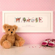 Premium Personalised Illustrated God Daughter Name Frame