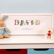 Premium Personalised Illustrated Godson Name Frame