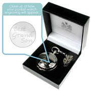 Engraved 'Best Grandson' Pocket Watch