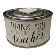 Scented Teacher Candle Tin by East of India