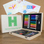 Personalised Childrens Colouring In Art Set
