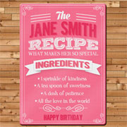 Personalised Recipe Glass Chopping Board - Any Name