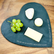 Personalised Heart Slate Cheese Board