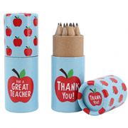Apple Themed Teacher Pencil Pot