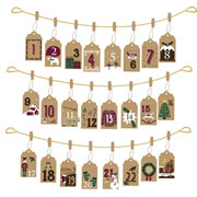 Hanging Envelope Advent Calendar