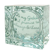 Layered Godchild Paperweight With Free Spaceform Gift Bag