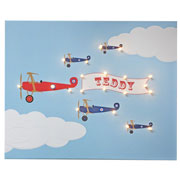 Personalised Illuminated Bi Planes Canvas
