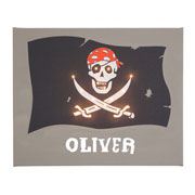 Personalised Illuminated Pirate Flag Canvas