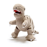 Knitted T Rex Rattle