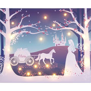 Personalised Illuminated Cinderella Canvas