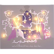 Personalised Illuminated Sleeping Beauty Canvas