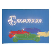 Personalised Illuminated Racing Cars Canvas