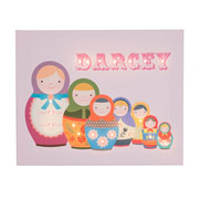 Personalised Illuminated 7 Russian Dolls Canvas