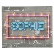 Personalised Illuminated Neon Style Canvas