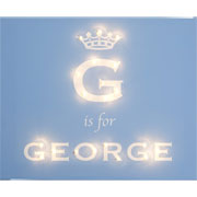 Personalised Illuminated Royal Darling Boys Crown Canvas