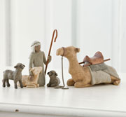 Willow Tree Shepherd and Stable Animals Set