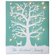Personalised Illuminated Family Tree Canvas