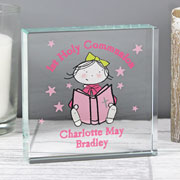 Personalised Christening or Communion Crystal Token For Girl